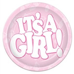 It's A Girl! Luncheon Plates
