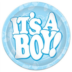 It's A Boy! Lunch Plates