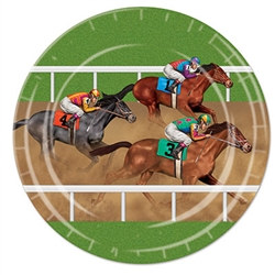 Horse Racing Lunch Plates