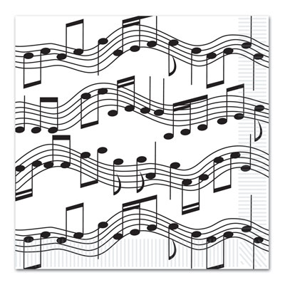 musical note lunch napkins partycheap 100th Birthday Celebration for Favors and Decoration musical note lunch napkins