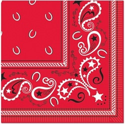 Bandana Lunch Napkins (16/pkg)