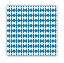 Blue and White Oktoberfest Lunch Napkins (16/pkg)