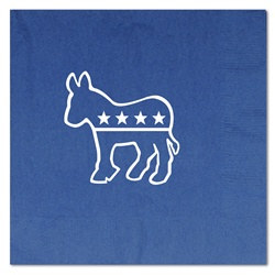 Blue Democratic Luncheon Napkins (16/pkg)