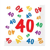 40 Luncheon Napkins (16 Napkins Per Package)