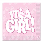 It's A Girl! Luncheon Napkins