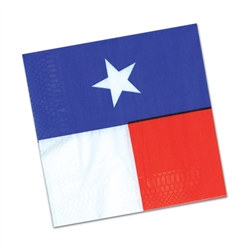 Everything's bigger in Texa, even the messes!  Our Texas beverage napkins help keep your Texas-themed party neat and clean. Package contains 16 2-ply napkins. Pair them with our matching ​Texas Plates.