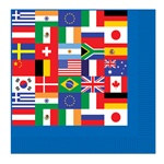 International Flag Beverage Napkins