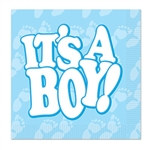 It's A Boy! Beverage Napkins