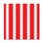 Red & White Stripes Beverage Napkins