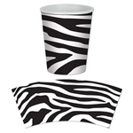 Zebra Print Hot/Cold Cups (8/pkg)