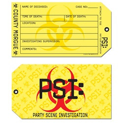 PSI Toe Tag Invitations (8/pkg)