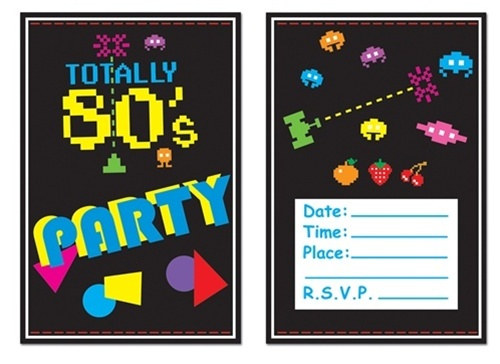 80s Theme Party Invitations PartyCheap
