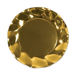 Metallic Gold Small Plates (10/pkg)