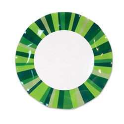 Green Stripe Small Plates (10/pkg)