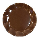 Brown Medium Plates (10/pkg)