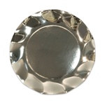 Metallic Silver Medium Plates (10/pkg)