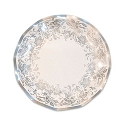 Traditional Silver Medium Plates (10/pkg)