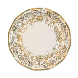 Traditional Gold Medium Plates (10/pkg)