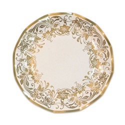 Traditional Gold Large Plates (10/pkg)