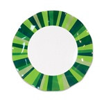 Green Stripe Large Plates (10/pkg)
