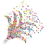 The Push Up Confetti Poppers - Multi-color are filled with multi-color tissue confetti. Contains approx. 0.40 ounces per popper. Contains 8 per package. Point away from the face and other people.