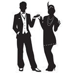 Get your guests in the right frame of mind with the Great 20's Silhouettes. These black and white cut-outs help set the mood, match with our Gangster Props & Jazz Trio Silhouettes.