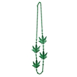 Show off your love for the green by wearing these Weed Beads at your 420 party. These green plastic beads show that you really are ready for the 4/20 festivities. The beaded necklace measures 40 inches long and comes one per package.
