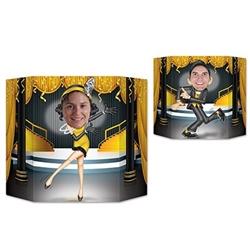 "Create lasting memories at your party with the Great 20's Photo Prop. Printed on both sides of cardstock material, this photo prop features a man dancing on one side and a woman dancing on reverse side! Measures 37"" by 25"" . 1 photo prop per package."