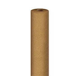 This sturdy brown Kraft Paper Table Roll is perfect for any event with a rustic theme. Keep children occupied by drawing on the continuous length of paper.  Contains one 24 inch by 100 feet Kraft Paper Table Roll per package.