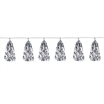 Add sparkle, gleam and shine to your holidays with our Silver Metallic Tassel Garland.