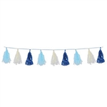 Decorate for an upcoming Oktoberfest party or baby shower with our Metallic & Tissue Tassel Garland! The elegant colors, along with the combination of metallic and tissue tassel give it an incredibly unique look. Measures 8 feet. Comes one per package.