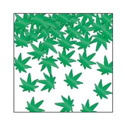 Are you celebrating 4/20? Sprinkle some of this Fanci-Fetti Weed around to set the mood for the party! It's a metallic green color and the package comes with one ounce of confetti. This ounce won't get you into any trouble.