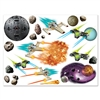 Decorate for a galaxy or outer space themed party with our fun and colorful Galaxy Props. There are props in the package of space themed objects, including but not limited to a space station, asteroids and spaceships. Comes 19 Galaxy Props per package.