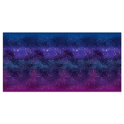 Our Galaxy Backdrop will instantly transform your room into another galaxy the second you hang it up! It measures a whopping four feet by 30 feet and the interweaving of blues and purples is truly mesmerizing. Comes one backdrop per package.