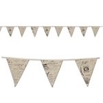 Celebrate someone's French heritage by throwing a party and decorating with our French Fabric Pennant Banner. The entire banner measures 12 feet long, with each individual pennant on the banner measuring roughly 9.25 inches. Comes one banner per package.