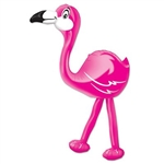 Add some color and a touch of the tropics to your Hawaiian or luau themed party with our Inflatable Flamingo. When fully inflated, it measures 24 inches and can be used both indoors and out. Comes one Inflatable Flamingo per package.