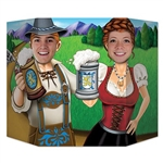 The Oktoberfest Couple Photo Prop is made of cardstock and is a great way to bring entertainment and smiles to your celebration! Set it on a table or any smooth surface and snap the photo! It measures 37 inches by 25 inches. One per pack.