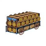 The 3-D Beer Wagon Centerpiece is the perfect tabletop decoration at your next Oktoberfest party. The printed card stock centerpiece features an image of a beer wagon filled with Bavarian themed beer barrels. Simple assembly. One per package.