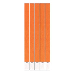 Neon Orange Tyvek Wristbands