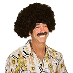 Get ready for a 70's disco party or your Halloween party by sporting this fashionable Afro Wig! Just put this on and in just seconds, you'll have an afro that will make everyone else jealous. It's a one size fits most and is made of 100% synthetic fiber.