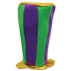 Mardi Gras Plush Tall Top Hat