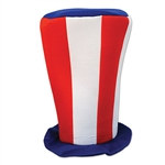 Patriotic Plush Tall Top Hat