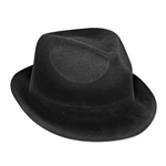 Whether you're dressing up for Halloween or New Year's Eve, the Black Velour Chairman Hat is what you're going to want to be wearing. It's a one size fits most adults and the hat is also great for jazz and gangster theme parties.