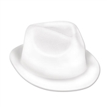 This white velour plastic hat will jazz up any 1920's theme party. A great all around hat in a classic shape, it is designed to fit most adults. It works well as a one time use party favor. Due to hygiene concerns, this item is not eligible for return.