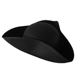 Add some elegance and class to your outfit with this Felt Tricorn Hat. There are three points where you can velcro the outer flap to give it a tighter look, if you so desire. Sold one per package.