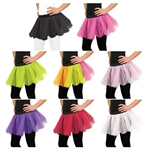 In an array of 8 fun colors, these tutus are sure to match any outfit and any style. Use a colorful tutu to complete your ballerina outfit or pair with matching fairy wings to complete your fairy costume.