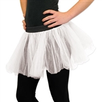 Finish off your ballerina outfit with our White Tutu. It's made of 100% polyester and is a one size fits most. Just slide this tutu over a pair of tights and you're instantly a ballerina! We have other colors including black, purple and lime green.