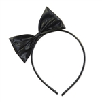 Get in the party mood by sporting a fashionable Black Bow Headband at your upcoming party. This headband will comfortably fit the average size head and it's a sophisticated headband everyone will love. Comes one headband per package.