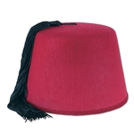 Add color and a touch of the exotic to your outfit for your upcoming party with this Felt Fez Hat. The hat is red and made of felt, but an attached black tassel gives it that elegance everyone will admire. Comes one hat per package.