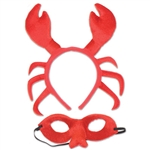 This Shellfish Headband & Mask Set is the ultimate party accessory for an under the sea theme party. In mere seconds, you will look like a shellfish! At an under the sea party, you're going to be the coolest crustacean in town! Comes one per package.